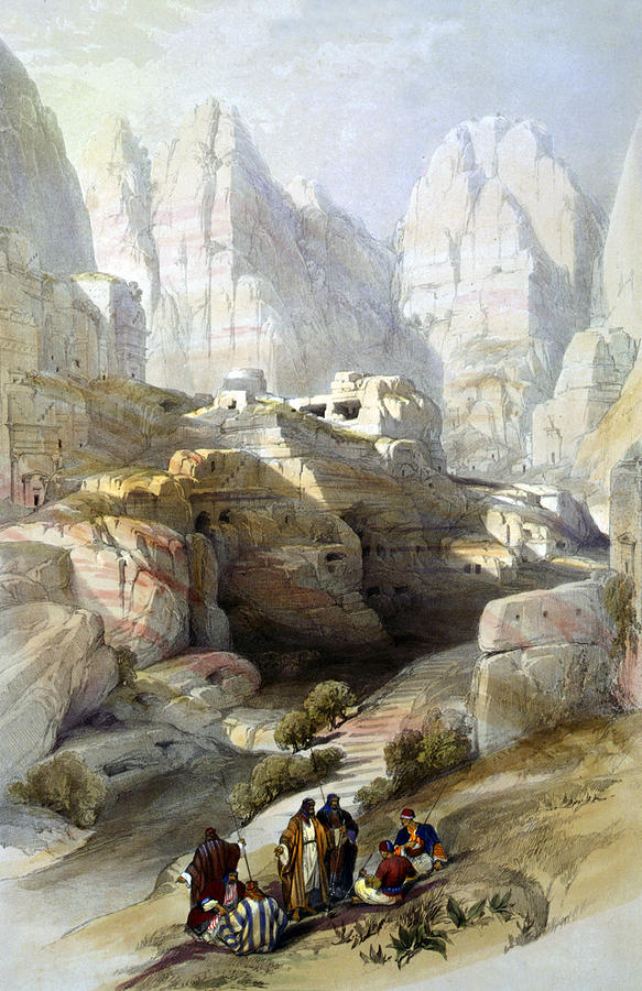 Petra Photograph - Petra March 10th 1839 by Munir Alawi