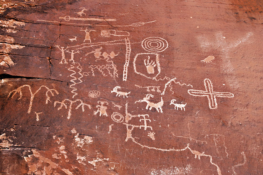 Petroglyphs Photograph - Petroglyph Canyon - Valley Of Fire by Christine Till