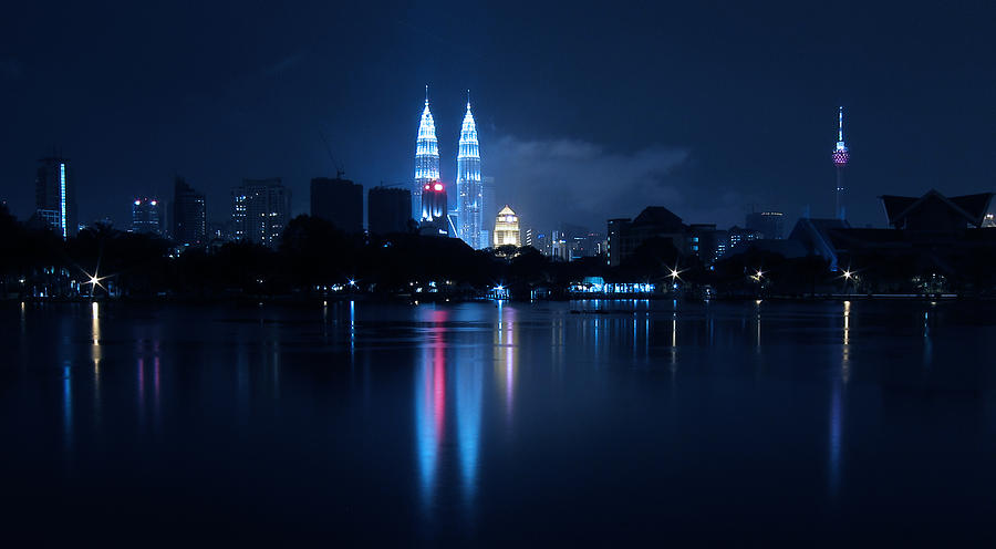 Malaysia Photograph - Petronas Towers Taken From Lake Titiwangsa In Kl Malaysia. by Zoe Ferrie