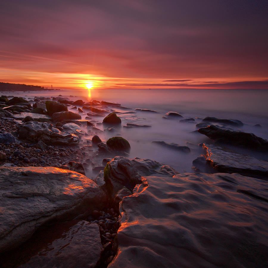 Sunrise Photograph - Pett Square by Mark Leader