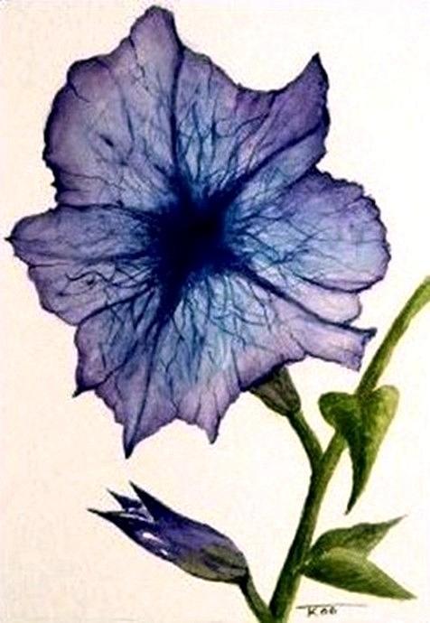 Petunia Painting - Petunia by Travis Kelley