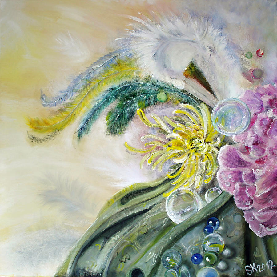 Feathers Painting - Phantasia by Stephanie  Koehl