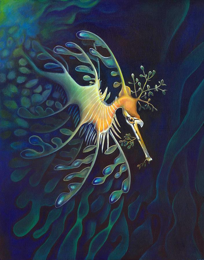 Sea Painting - Phantasmagoric Conception by Sym