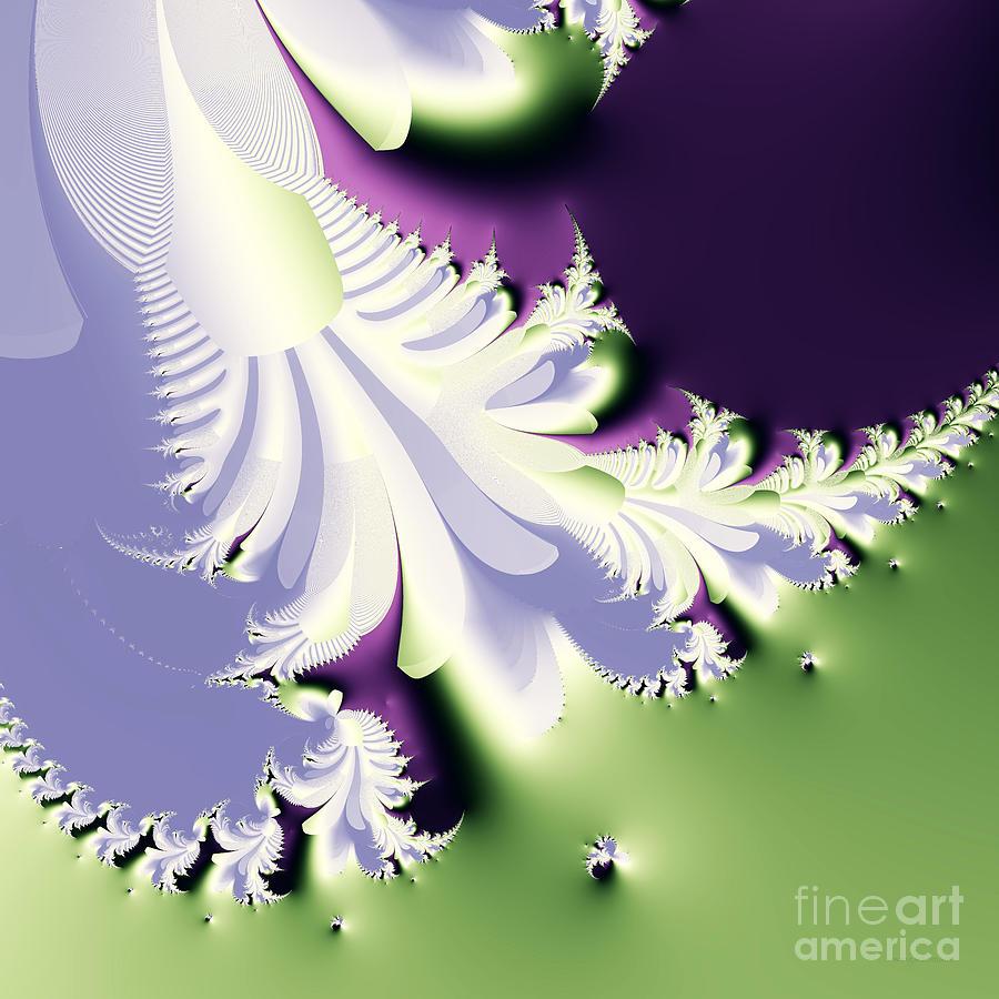 Fractal Digital Art - Phantom by Wingsdomain Art and Photography