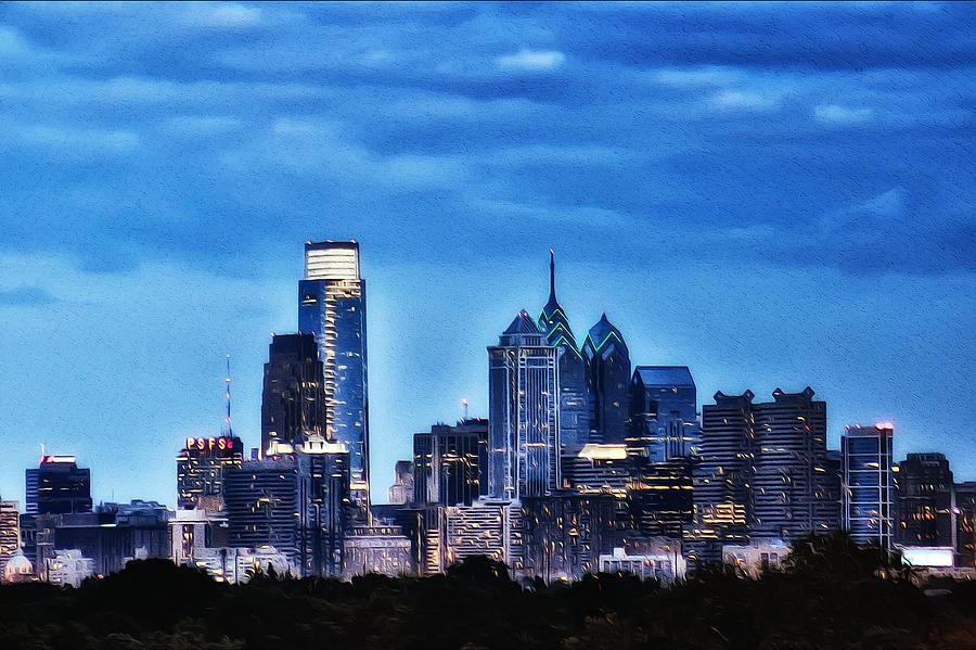 Philadelphia Photograph - Philadelphia At Night by Bill Cannon