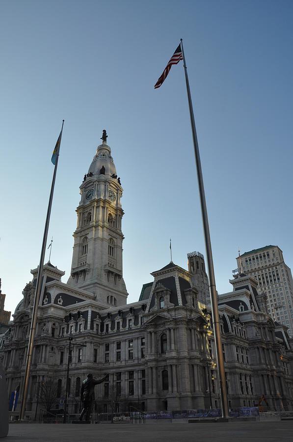Frank Rizzo Photograph - Philadelphia City Hall  by Bill Cannon