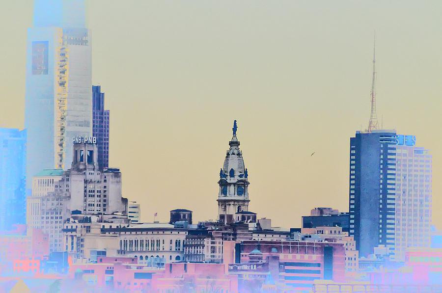 Philadelphia From South Camden Photograph - Philadelphia From South Camden by Bill Cannon