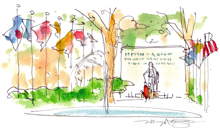 Landscape Painting - Philadelphia Park by Marilyn MacGregor
