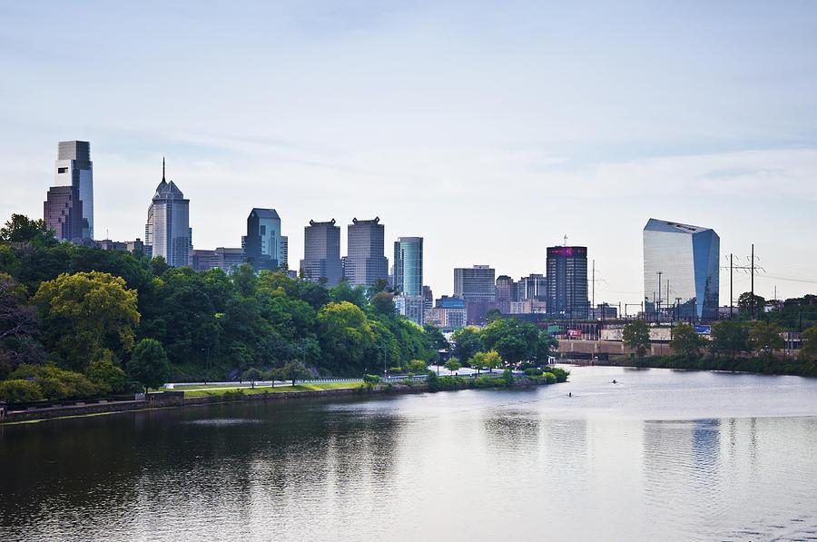 Philadelphia Photograph - Philadelphia View From The Girard Avenue Bridge by Bill Cannon