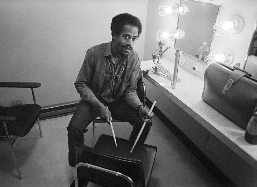 Rock Photograph - Philip Wilson Drums For Butterfield Blues Band Fillmore East 1968 by Jan W Faul