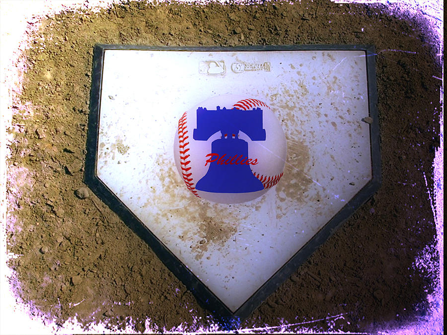 Phillies Photograph - Phillies Home Plate by Bill Cannon
