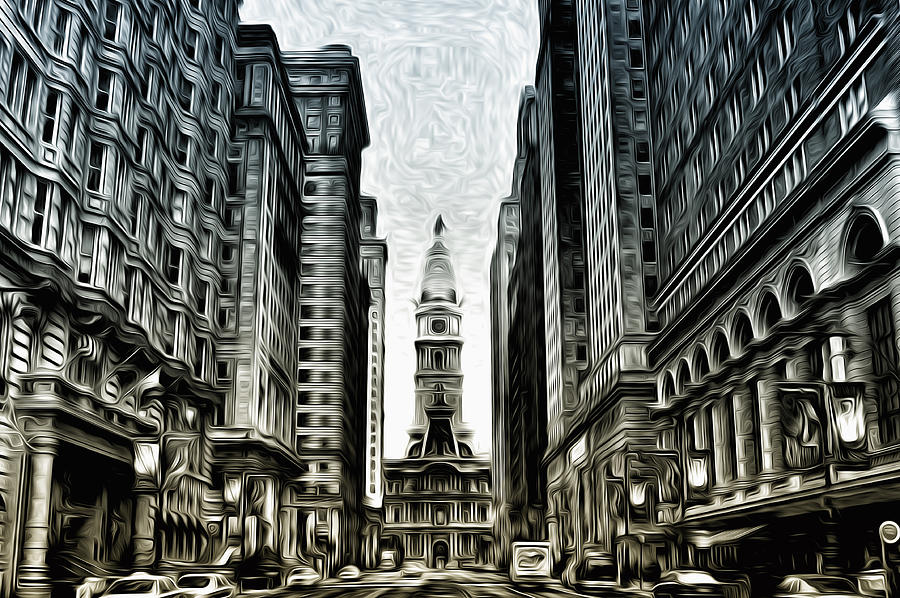 Philly Photograph - Philly - Broad Street by Bill Cannon
