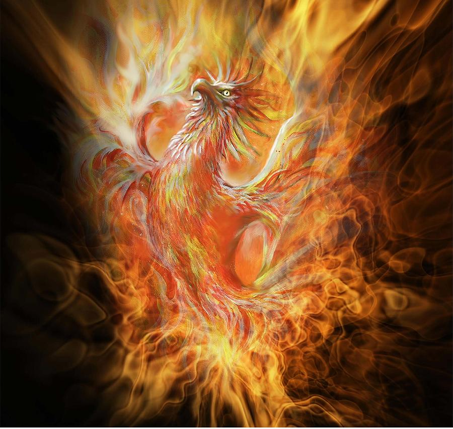 Phoenix Painting By Penny Golledge