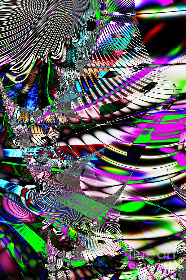 Fractal Digital Art - Phoenix Rising . S3.s9 by Wingsdomain Art and Photography