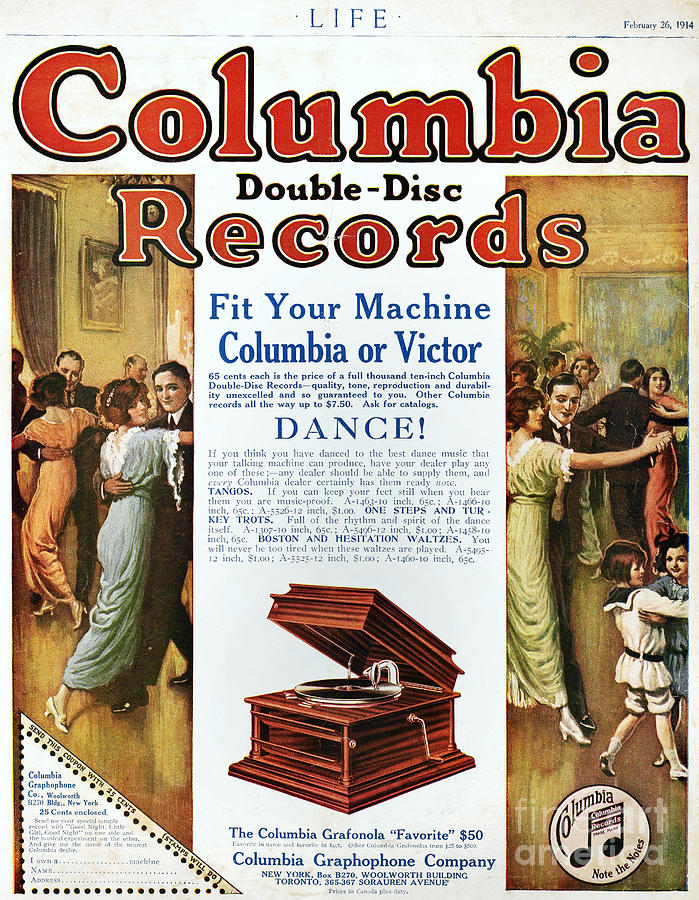 1914 Photograph - Phonograph Ad, 1914 by Granger