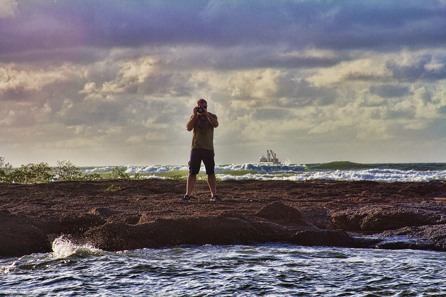 Self Portrait Photograph - Photographing Seaside Life by Douglas Barnard