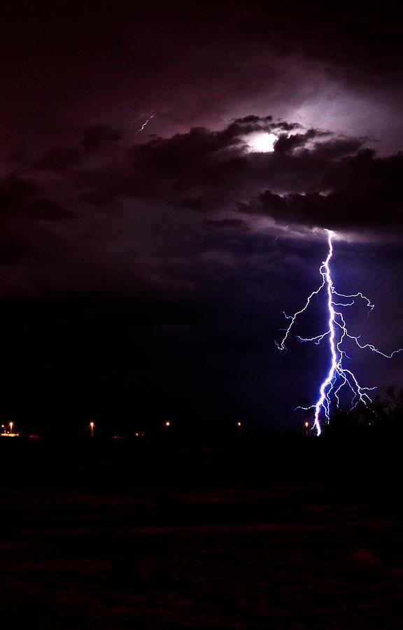 Night Photograph - Phx Night Lightning 8 by Kenny Jalet