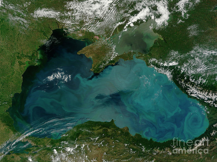 Color Image Photograph - Phytoplankton Bloom In The Black Sea by Stocktrek Images
