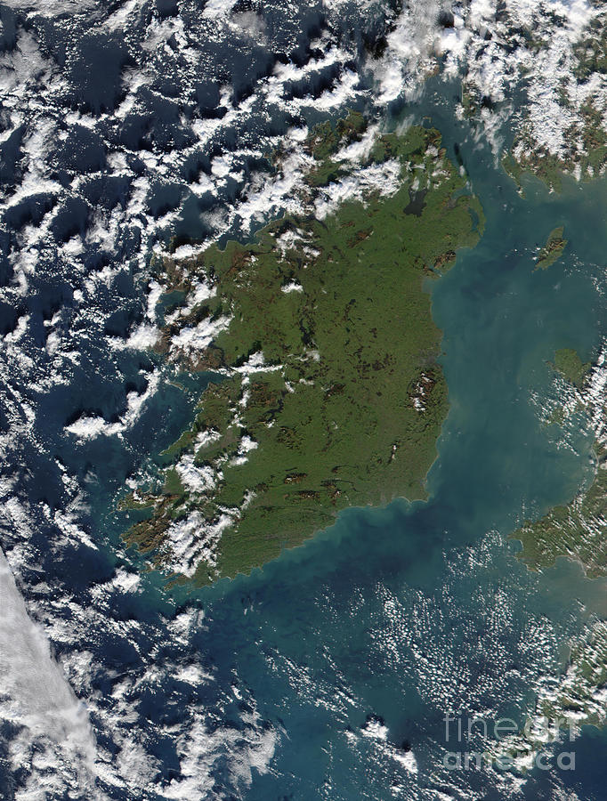United Kingdom Photograph - Phytoplankton Bloom Off The Coast by Stocktrek Images