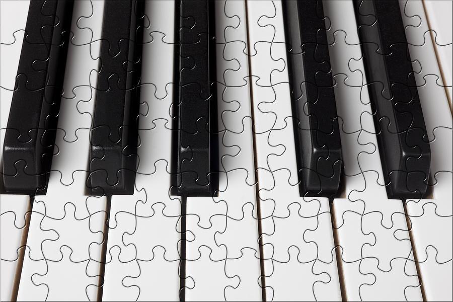 Piano Photograph - Piano Keys Jigsaw by Garry Gay