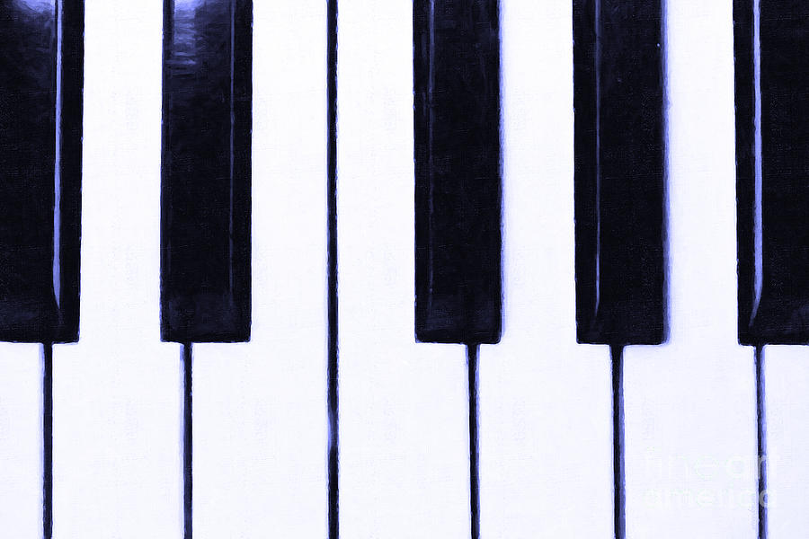 Music Photograph - Piano Keys by Wingsdomain Art and Photography