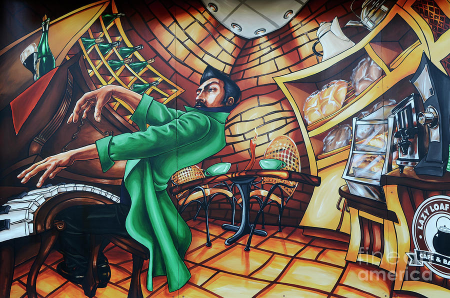 Graffiti Photograph - Piano Man by Bob Christopher