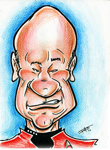 Star Trek Drawing - Picard by Big Mike Roate