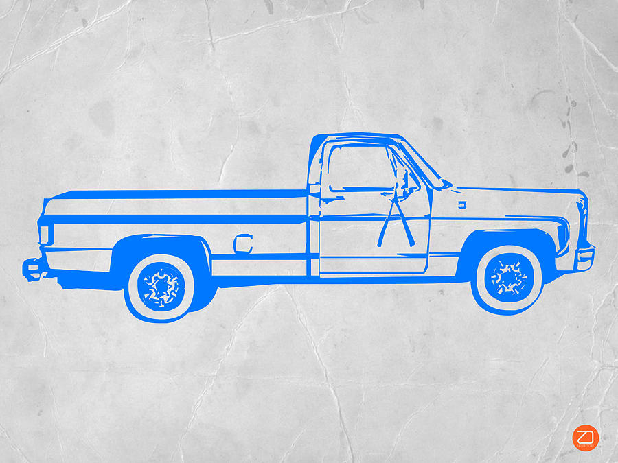 Pick Up Digital Art - Pick Up Truck by Naxart Studio