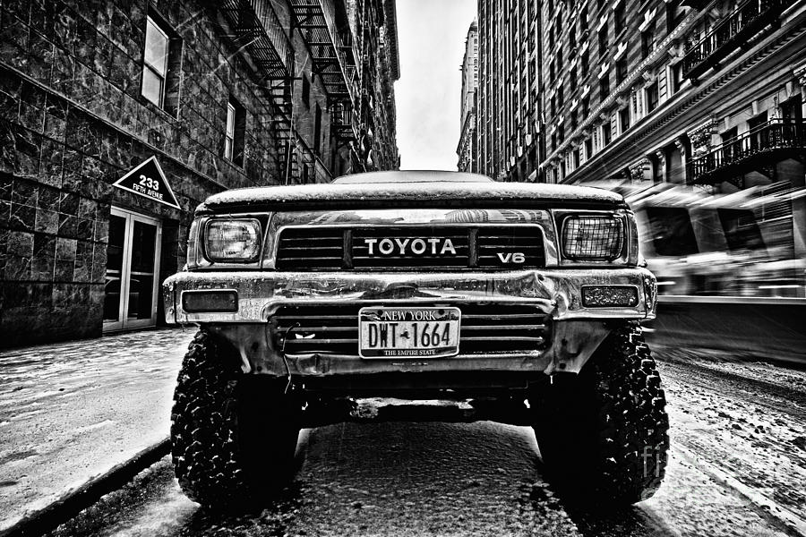 Cold Photograph - Pick Up Truck On A New York Street by John Farnan