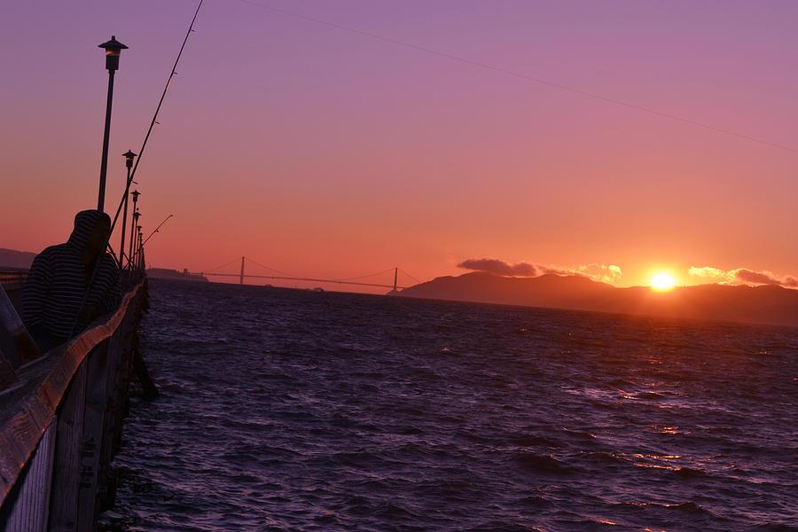 Bridge Photograph - Picking Through The Bridge Sunset by Saifon Anaya