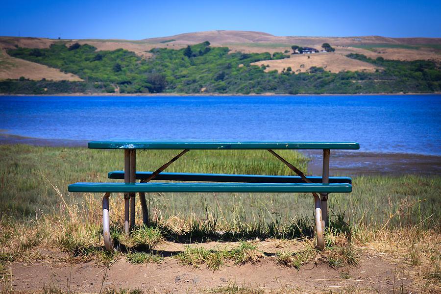 Lake Photograph - Picnic Table At The Lake by Dina Calvarese