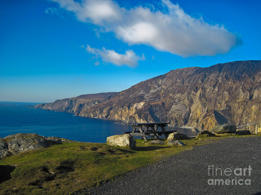 Slieve League Photograph - Picnic Time At Slieve League Ireland by Black Sun Forge