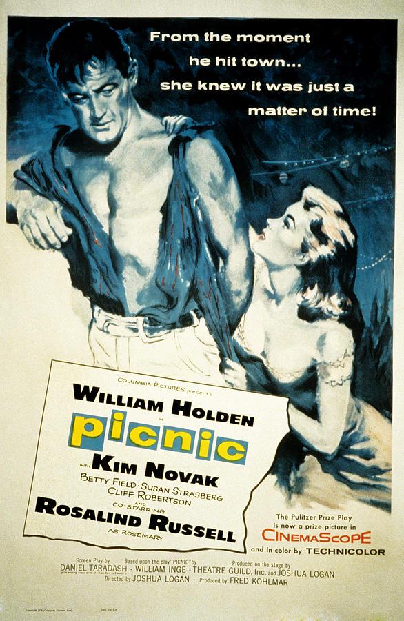 1955 Movies Photograph - Picnic, William Holden, Kim Novak by Everett
