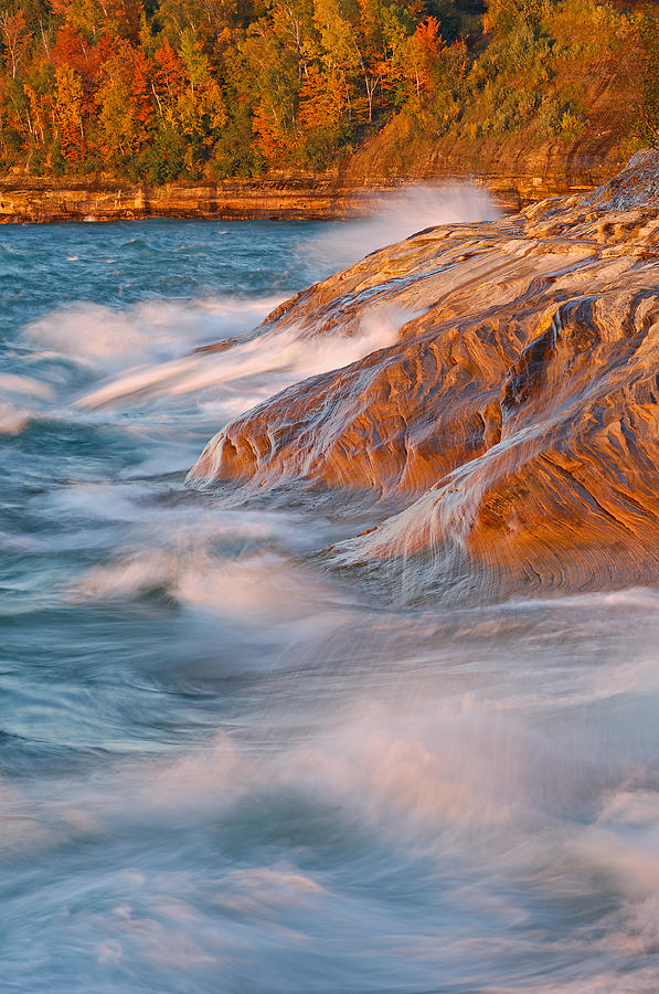 Coast Photograph - Pictured Rocks Lake Superior by Dean Pennala