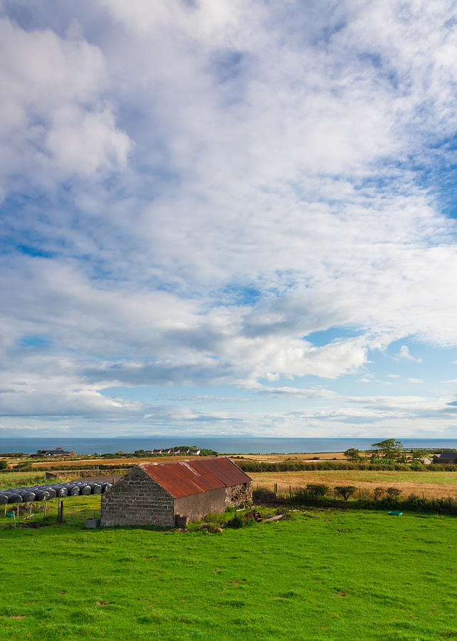Clouds Photograph - Picturesque Barn by Semmick Photo