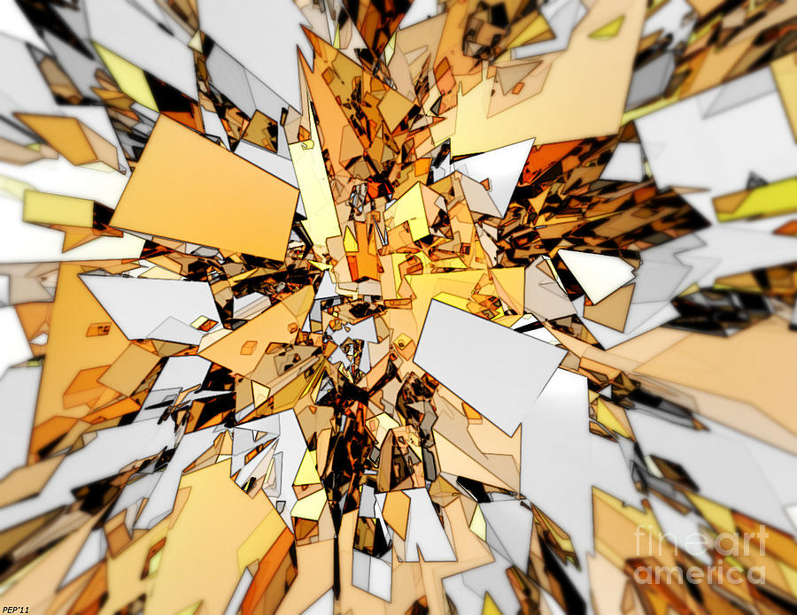 Gold Digital Art - Pieces Of Gold by Phil Perkins