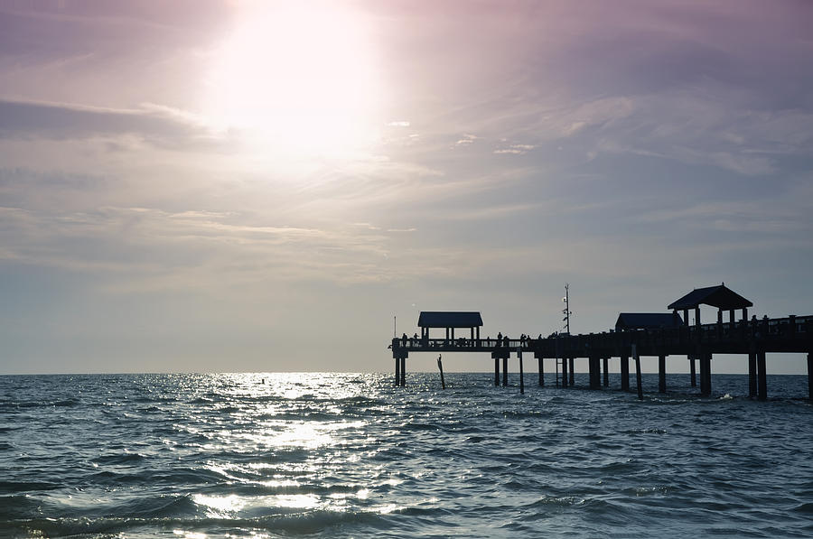Pier 60 Sunset Clearwater Beach Florida Photograph By Bill Cannon