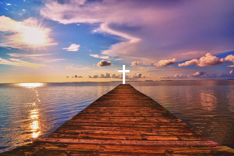 Pier Photograph - Pier Into Heaven by Kelly Reber