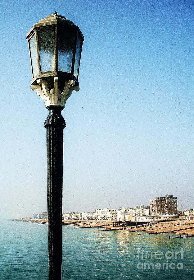 Lamp Post Photograph - Pierside Post by Sarah Clark