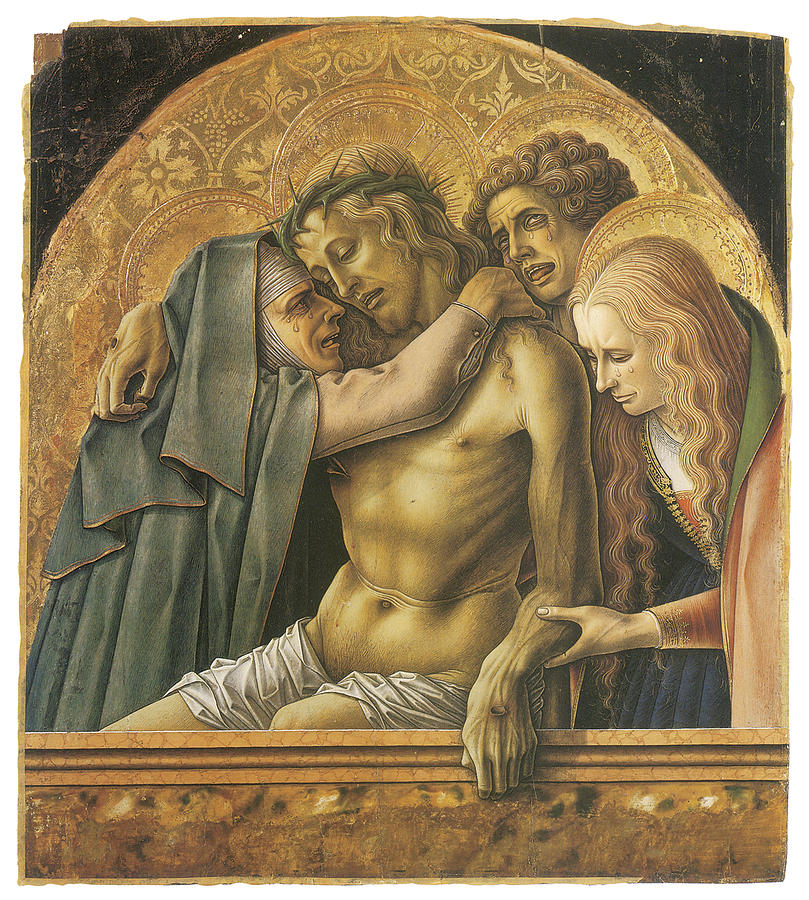 Carlo Crivelli Painting - Pieta by Carlo Crivelli