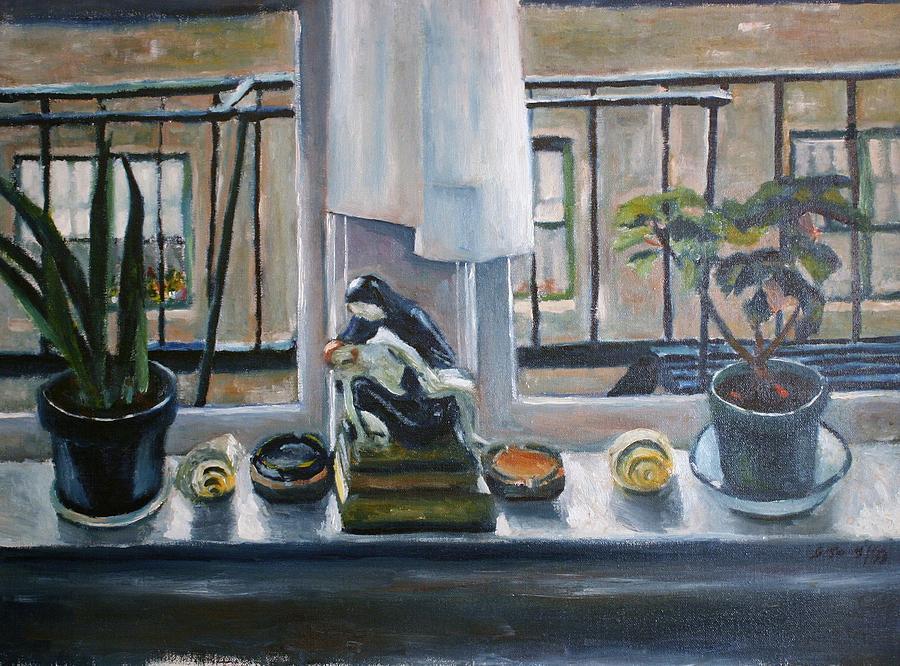Interior Painting - Pieta On Windowsill by Victor SOTO