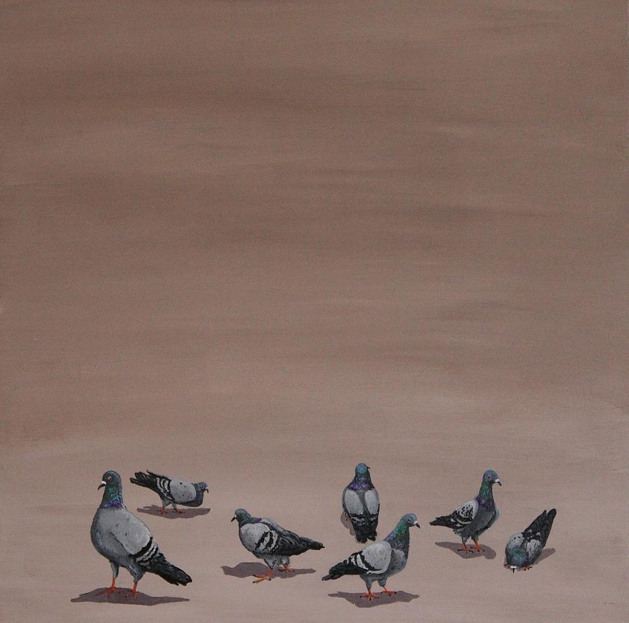 Pigeons Painting - Pigeons by Jennifer Lynch