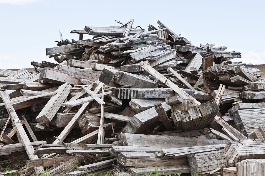 Pile Of Building Debris : Pile of wood debris photograph by paul edmondson