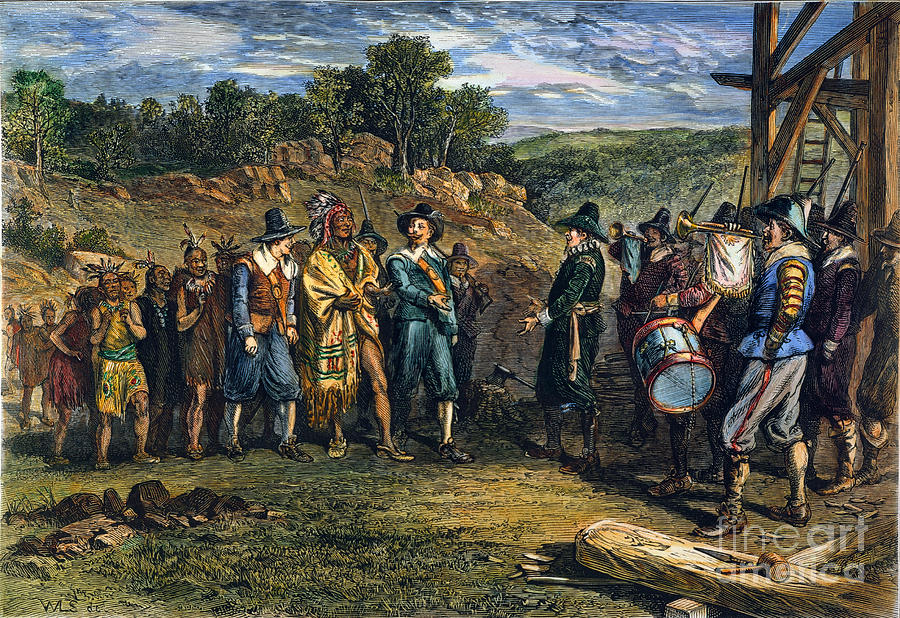 Pilgrims Massasoit Photograph By Granger