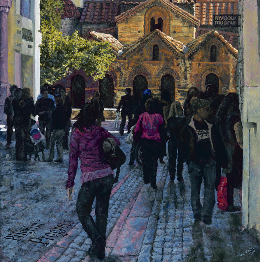 Athens Painting - Pilgrims Progress by Mike Burns