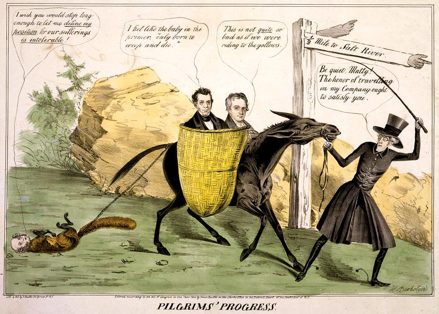 1840s Photograph - Pilgrims Progress, Showing Ex-president by Everett