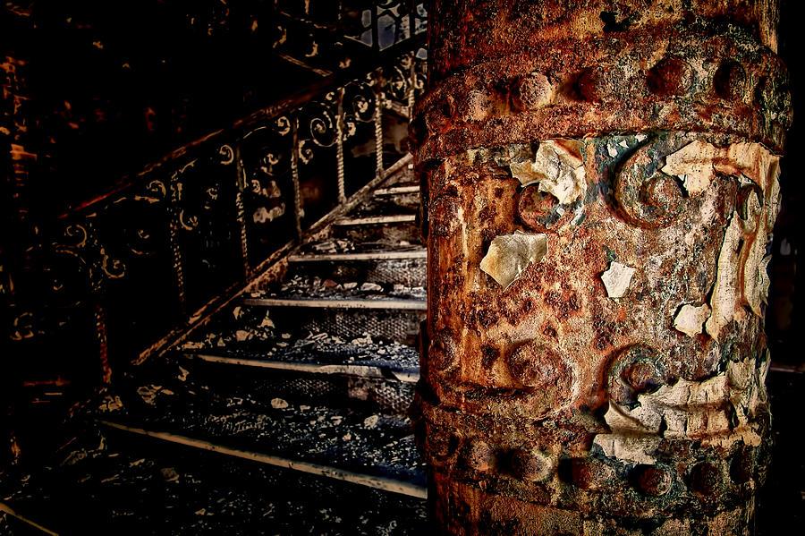 Staten Island Hospital Photograph - Pillar Of The Forgotten  by Dmitriy Mirochnik