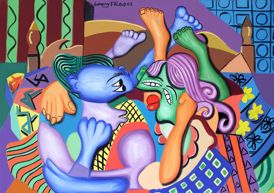 Pillow Talk Framed Prints Painting - Pillow Talk by Anthony Falbo