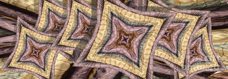Abstract Digital Art - Pillowed by Ron Bissett