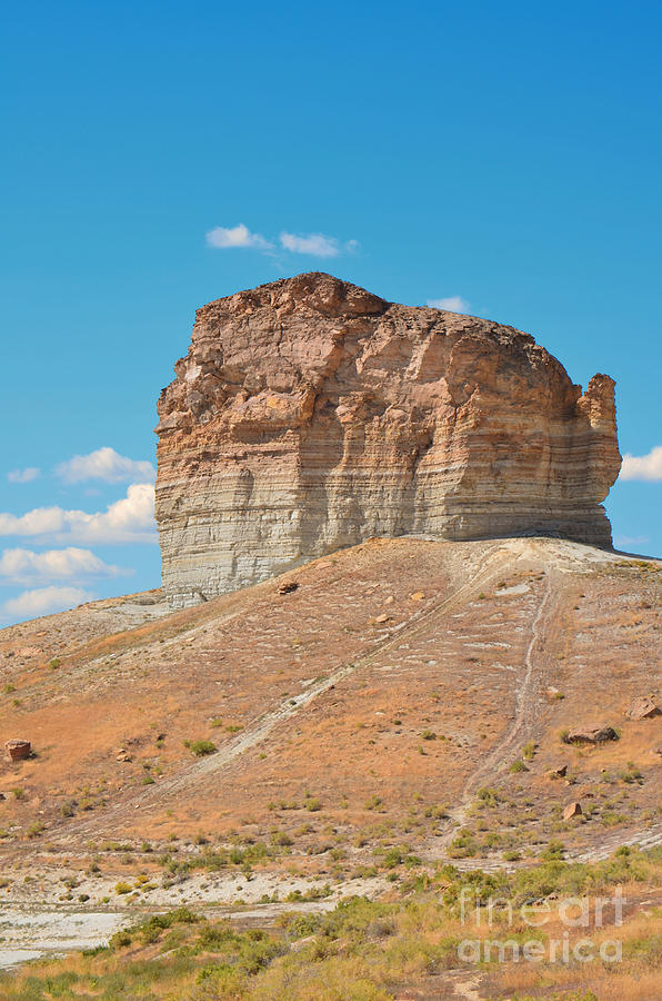 Donna Photograph - Pilot Butte Rock Formation II by Donna Greene